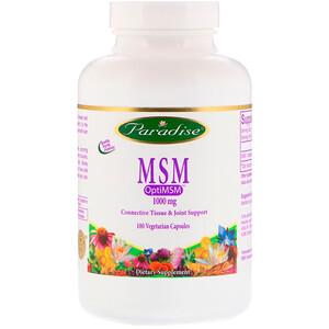 Парадайз Хербс, MSM, 1,000 mg, 180 Vegetarian Capsules отзывы