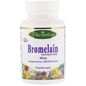 Парадайз Хербс, Bromelain, Joint & Digestive Formula, 500 mg, 60 Vegetable Capsules отзывы покупателей