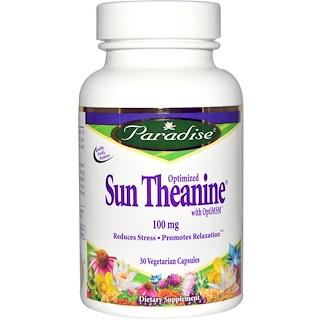Paradise Herbs, Optimized Sun Theanine, 100 mg, 30 Veggie Caps