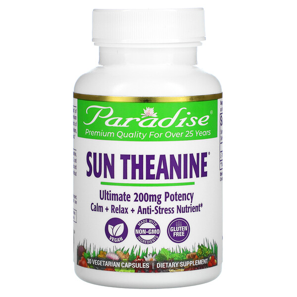 Sun Theanine, 200 mg, 30 Vegetarian Capsules