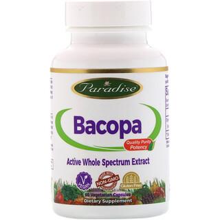 Paradise Herbs, Бакопа, 60 вегетарианских капсул