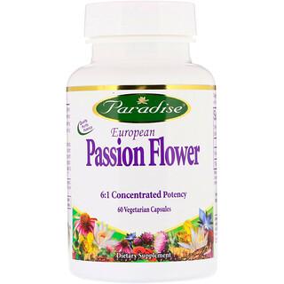 Paradise Herbs, Passiflora europea, 60 cápsulas vegetarianas
