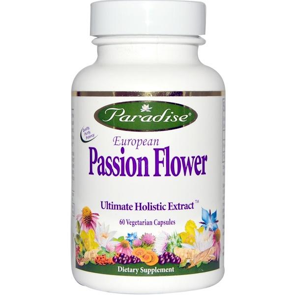 Paradise Herbs, European Passion Flower, 60 Veggie Caps