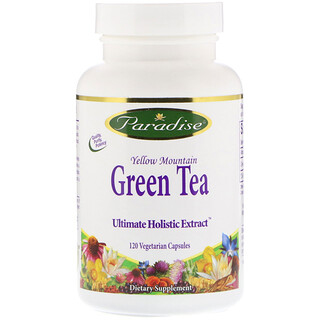 Paradise Herbs, Green Tea, 120 Vegetarian Capsules
