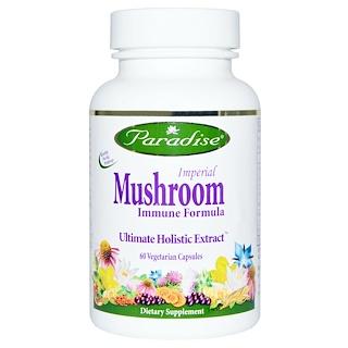 Paradise Herbs, Imperial Mushroom, Immune Formula, 60 Veggie Caps