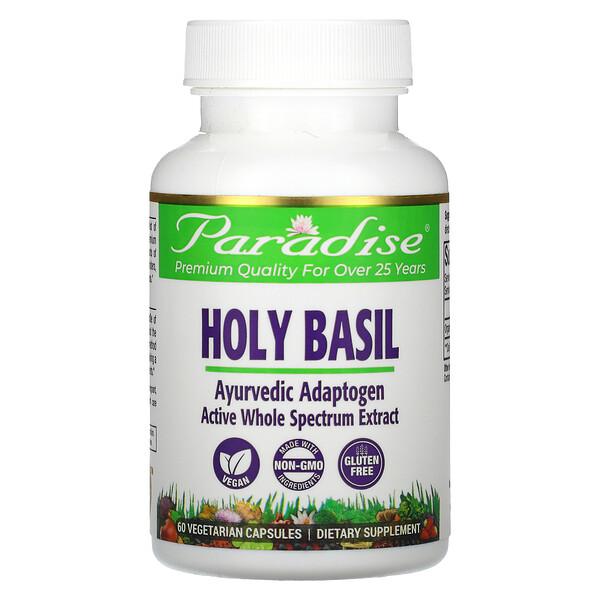Organics, Holy Basil, 60 Vegetarian Capsules