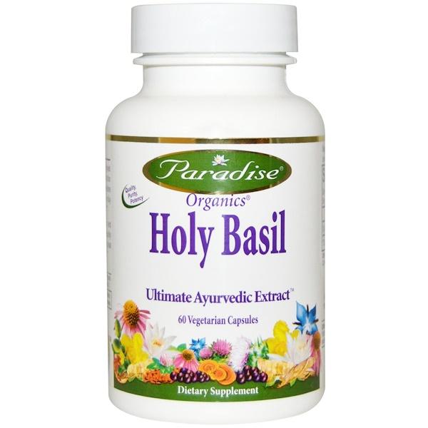 Paradise Herbs, Organics, Holy Basil, 60 Veggie Caps
