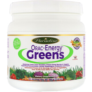 Paradise Herbs, ORAC-Energy Greens, 12,8 унции (364 г)