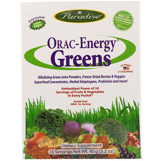 Paradise Herbs, ORAC-エナジー® グリーンズ, 15 パケット, 各 6 g