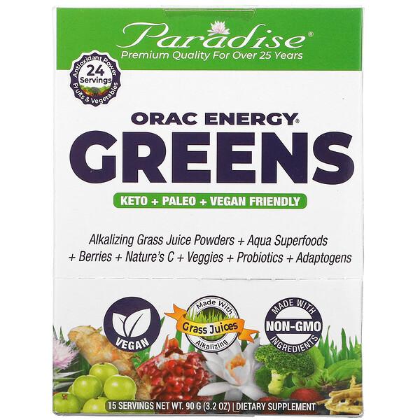 Paradise Herbs, ORAC Energy Greens, 15 Packets, 6 g Each
