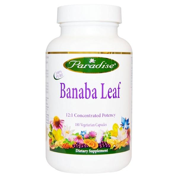 Paradise Herbs, Banaba Leaf, 180 Veggie Caps