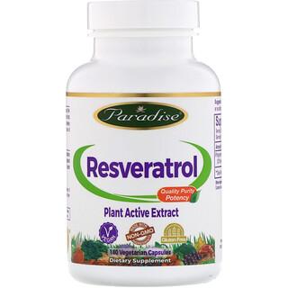 Paradise Herbs, Ресвератрол, 180 овощных капсул