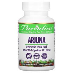 Paradise Herbs, Arjuna,60粒素食膠囊