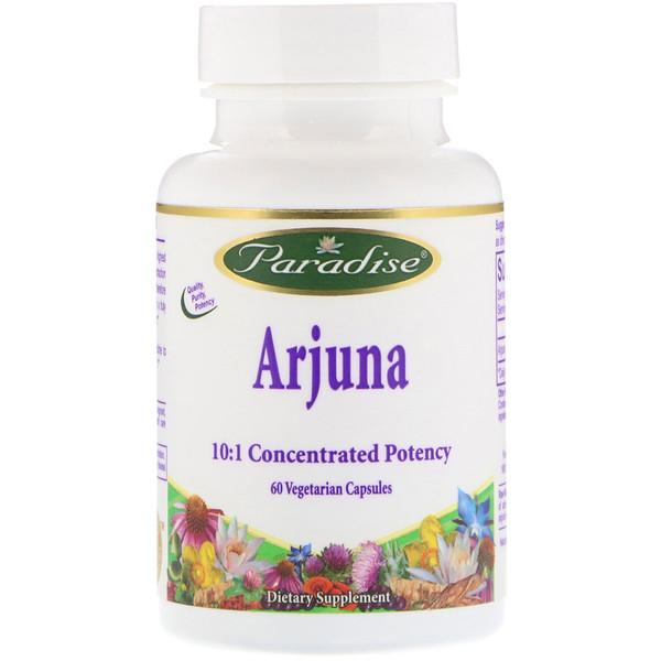 Paradise Herbs, Arjuna, 60 Vegetarian Capsules