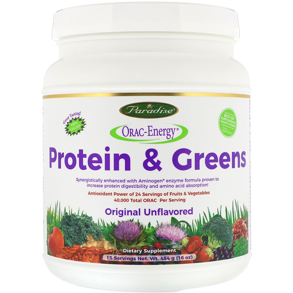 ORAC-Energy, Protein & Greens, Original Unflavored, 16 oz (454 g)