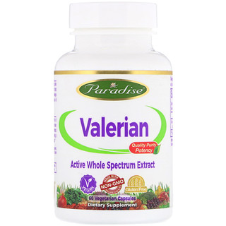 Paradise Herbs, Европейская валериана, 60 капсул