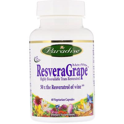 MedVita, ResveraGrape, 60 Vegetarian Capsules florassist heart health 60 vegetarian capsules