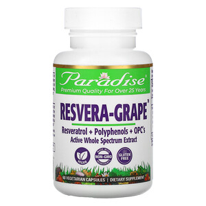 Парадайз Хербс, Resvera-Grape, 60 Vegetarian Capsules отзывы покупателей