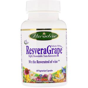 Парадайз Хербс, ResveraGrape, 60 Vegetarian Capsules отзывы