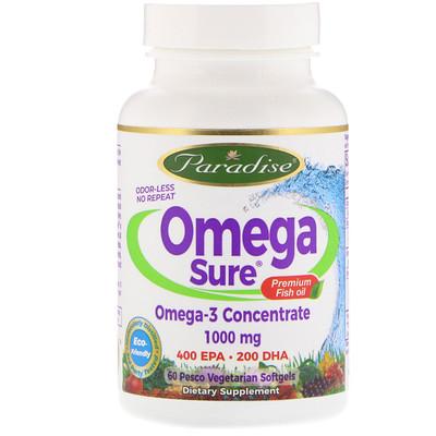 Купить Омега-3, 1000 мг, 60 жидких капсул на растительной основе