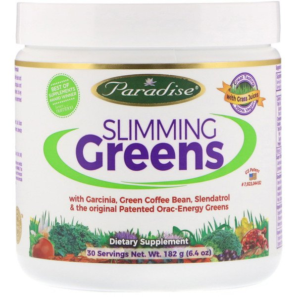 Paradise Herbs, Slimming Greens, 6.4 oz (182 g)