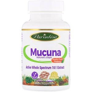 Парадайз Хербс, Mucuna, 60 Vegetarian Capsules отзывы покупателей