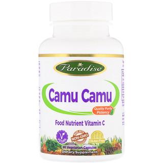 Paradise Herbs, Camu Camu, 60 Vegetarian Capsules