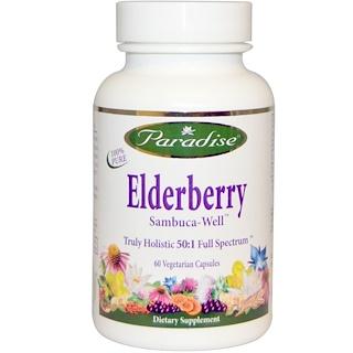 Paradise Herbs, Elderberry, 60 Veggie Caps
