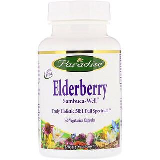 Paradise Herbs, Elderberry, 60 Vegetarian Capsules