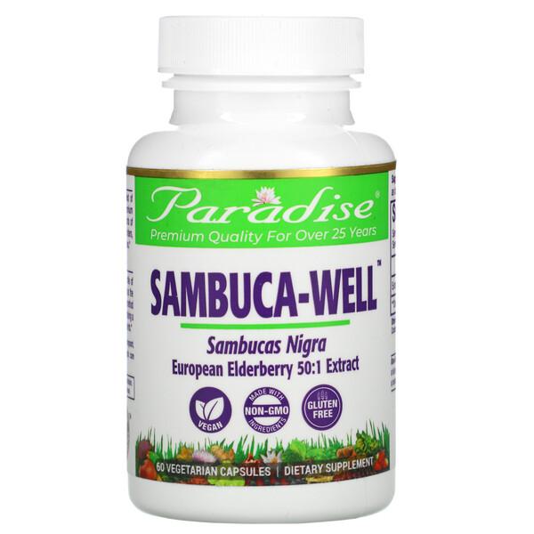Paradise Herbs, Sambuca-Well, 60 Vegetarian Capsules