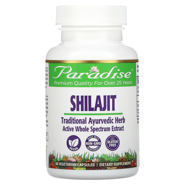 Shilajit, 60 cápsulas vegetarianas