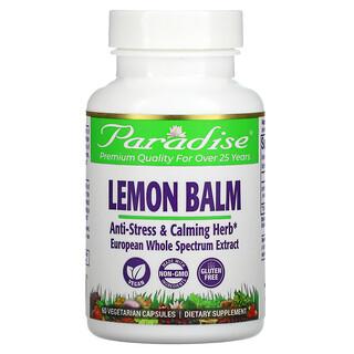 Paradise Herbs, Лимонный бальзам, 60 вегетарианских капсул