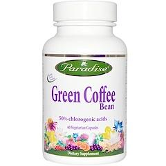Paradise Herbs, Green Coffee Bean, 60 Veggie Caps
