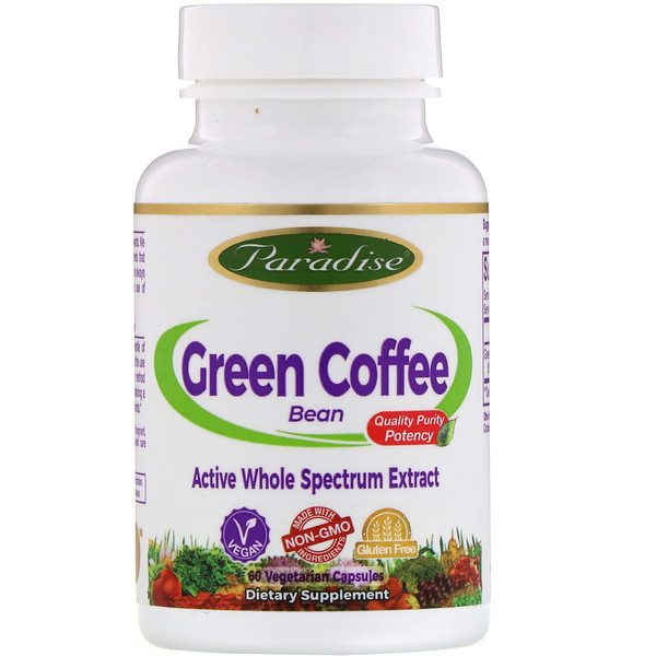 Paradise Herbs, Green Coffee Bean, 60 Vegetarian Capsules (Discontinued Item)
