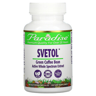 Paradise Herbs, Svetol, Green Coffee Bean, 60 Vegetarian Capsules