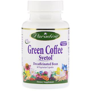 Paradise Herbs, Grüner Kaffee, Svetol, 60 Vegetarische Kapseln