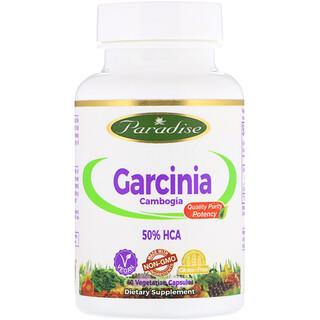 Paradise Herbs, ガルシニア、植物性カプセル60粒