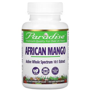 Paradise Herbs, African Mango, 60 Vegetarian Capsules