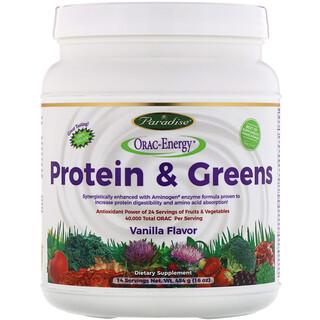 Paradise Herbs, Протеин и зелень, ванильный вкус, 16 унций (454 г)