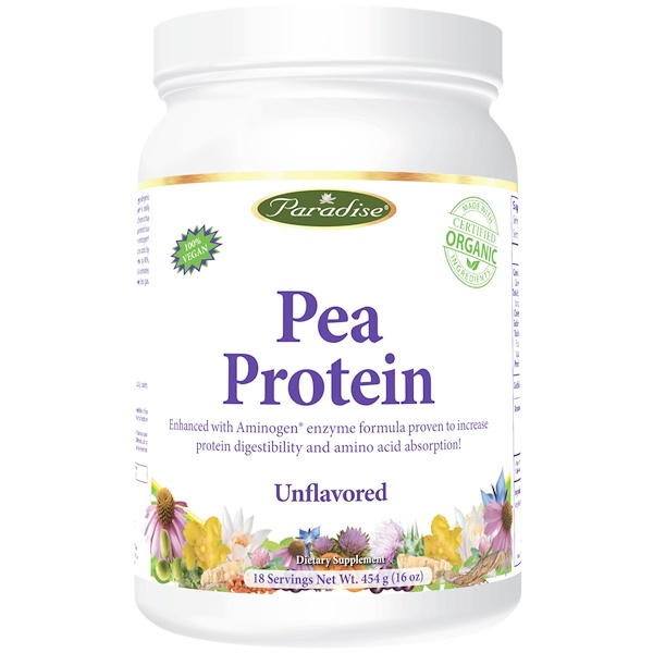 Paradise Herbs, Pea Protein, Unflavored, 16 oz (454 g)