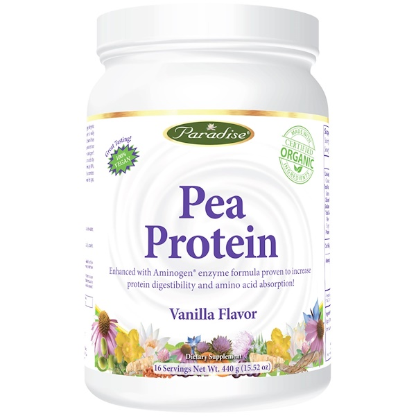 Paradise Herbs, Pea Protein, Vanilla Flavor, 15.52 oz (440 g) (Discontinued Item)