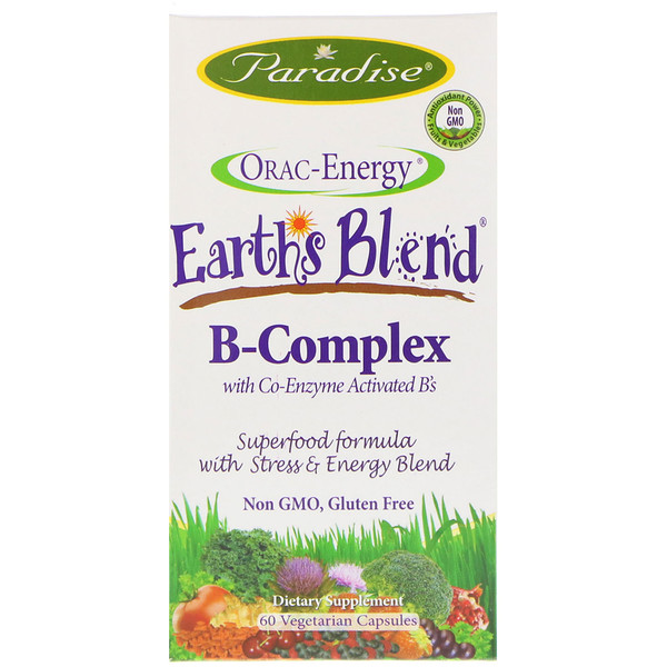 Orac-Energy, Earth's Blend, B-Complex with Co-Enzyme Activated B's, 60 Vegetarian Capsules