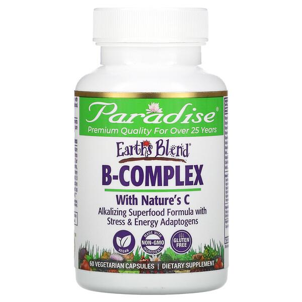 Earth's Blend, комплекс витаминов группы B с Nature's C, 60 вегетарианских капсул