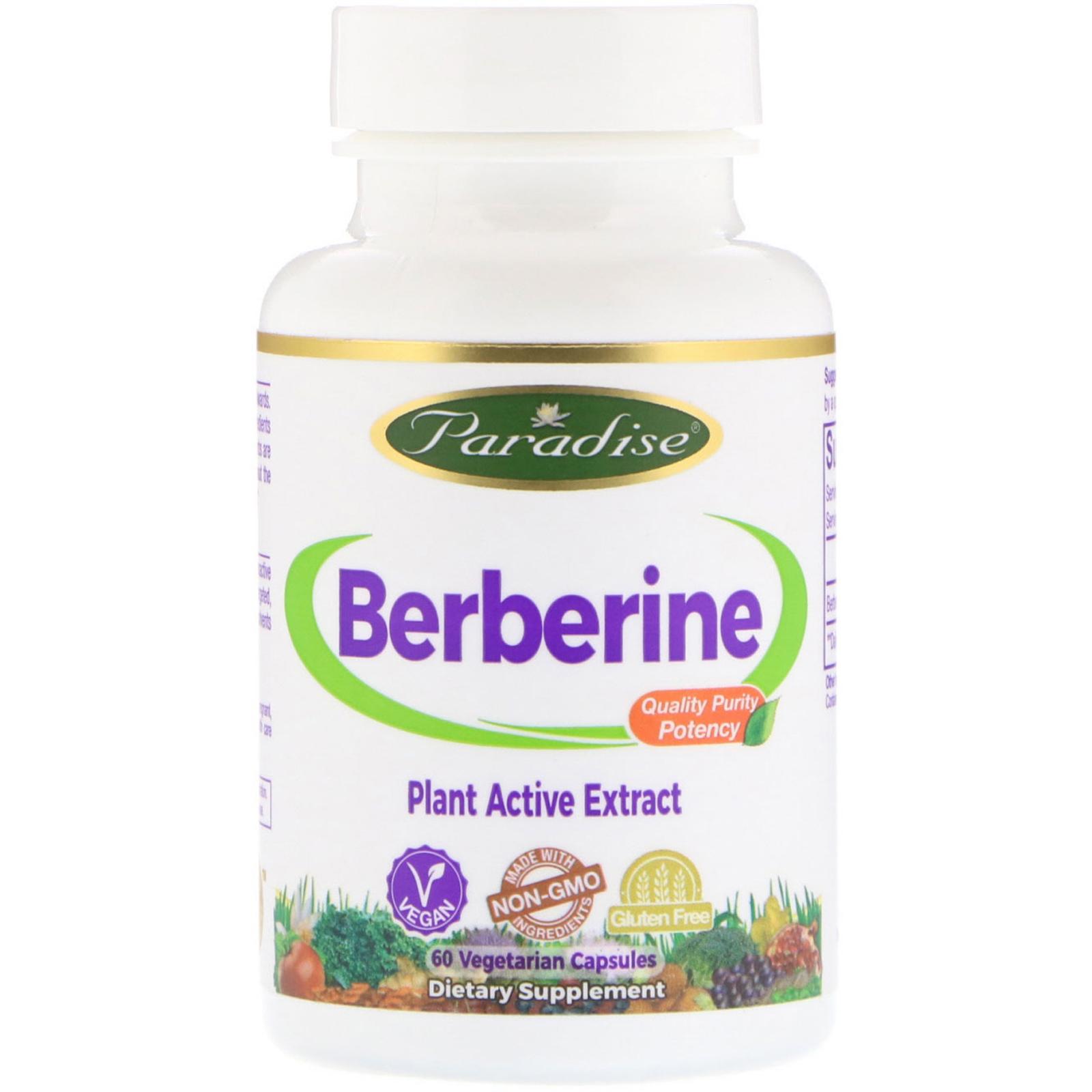 Paradise Herbs Berberine 60 Vegetarian Capsules Iherb Com