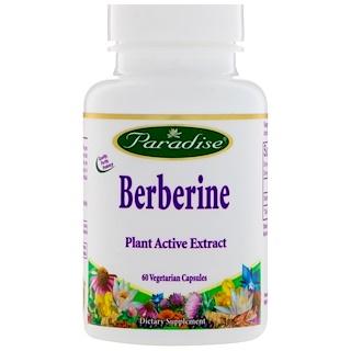 Paradise Herbs, ベルベリン、植物性カプセル60錠