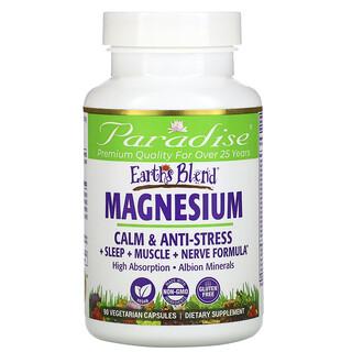Paradise Herbs, Earth's Blend, Magnesium, 90 Vegetarian Capsules