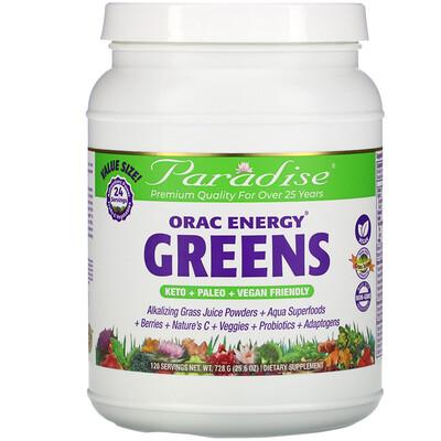 Купить Paradise Herbs ORAC Energy Greens, 25.6 oz (728 g)
