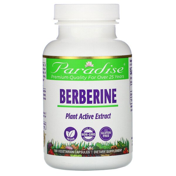 Paradise Herbs, Berberine, 180 Vegetarian Capsules