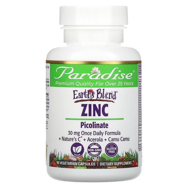 Earth's Blend, Zinc, Picolinate, 90 Vegetarian Capsules