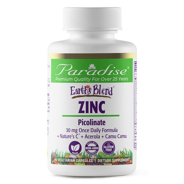 Earth's Blend, Zinc, Picolinate, 90 Vegetarian Capsules